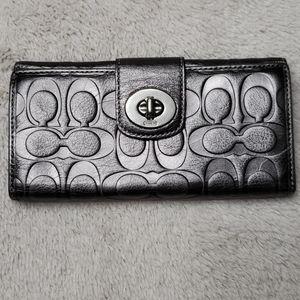 Coach Leather Logo Wallet